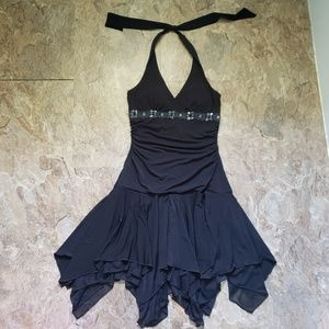 City Triangles | Black Halter dress